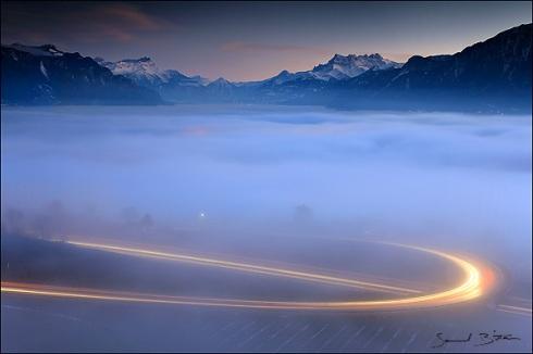 Stratus sur le Léman / Stratus over Geneva Lake
